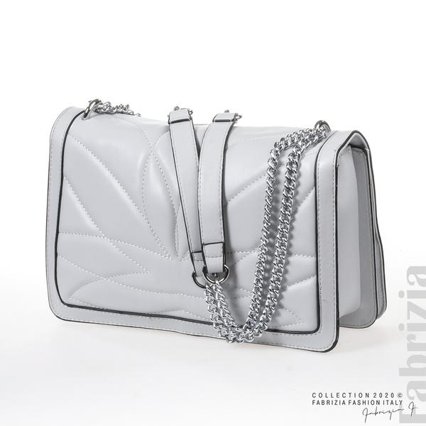 Дамска чанта с акцент на капака сив 3 fabrizia