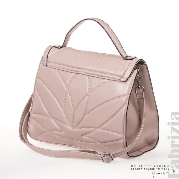 Чанта със сребристо сърце на капака розов 2 fabrizia