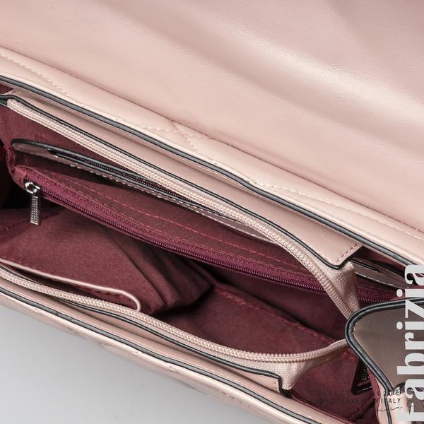 Чанта със сребристо сърце на капака розов 4 fabrizia