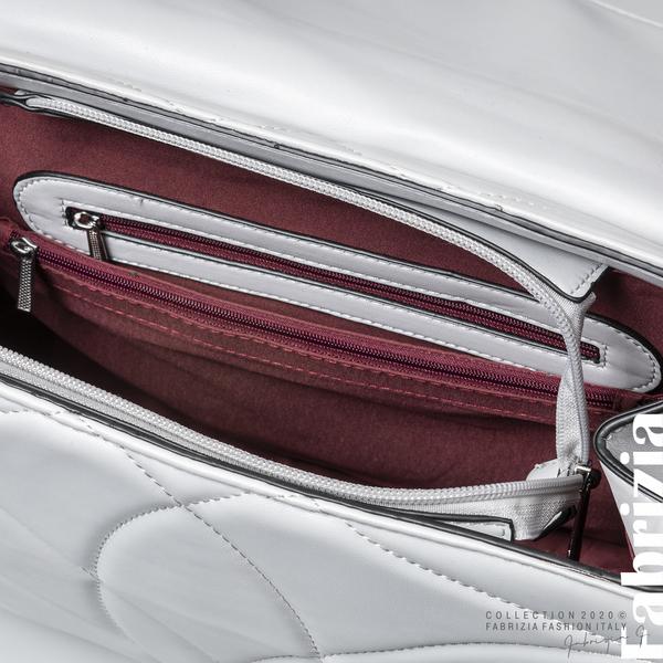 Чанта със сребристо сърце на капака сив 4 fabrizia