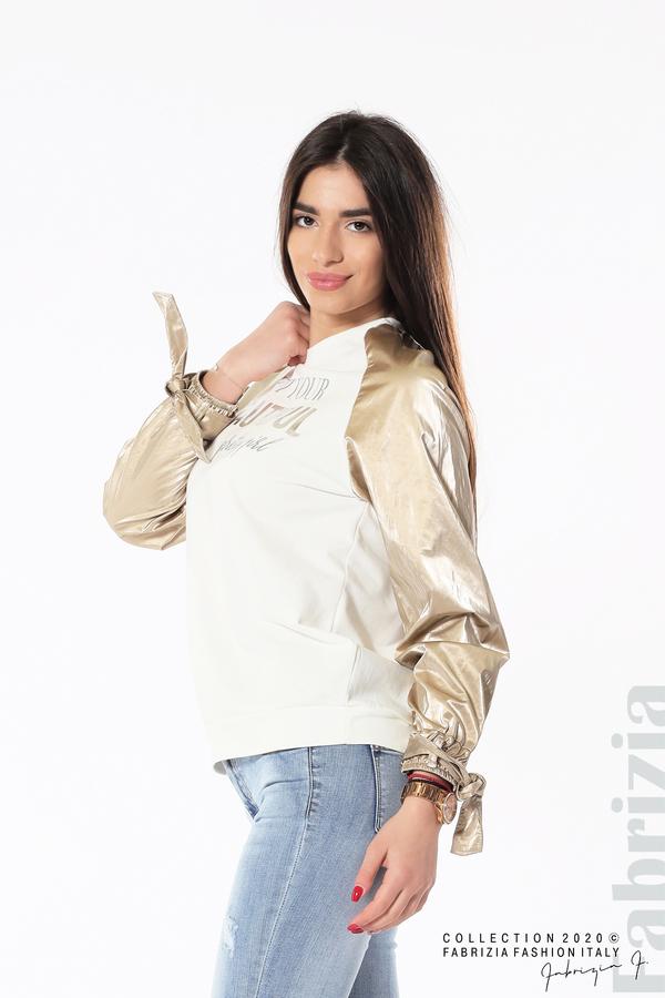 Блуза с надпис Beautiful екрю 2 fabrizia
