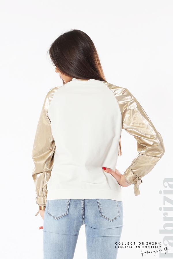 Блуза с надпис Beautiful екрю 5 fabrizia