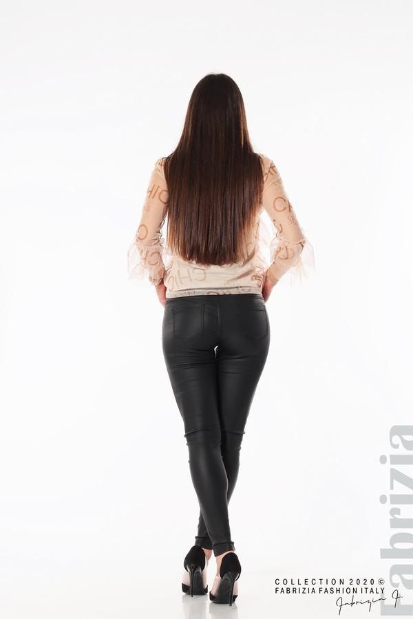 Ефирна блуза с волани пудра 5 fabrizia