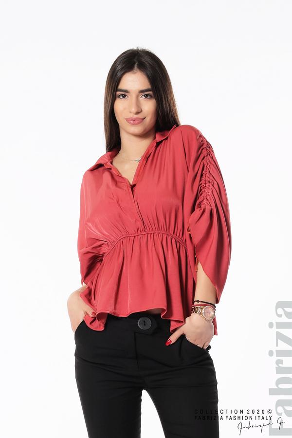 Блуза с ефектни ръкави т.корал 1 fabrizia