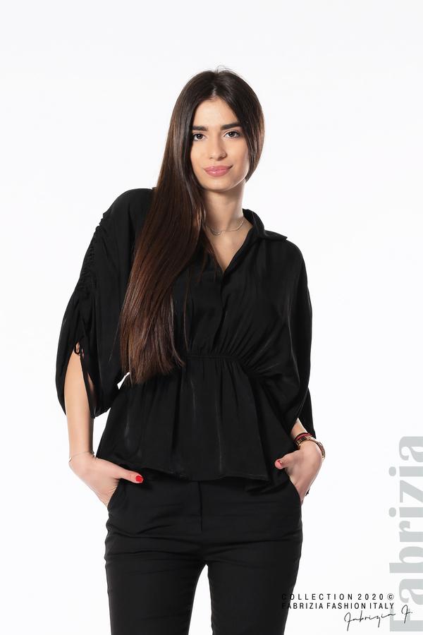 Блуза с ефектни ръкави черен 1 fabrizia