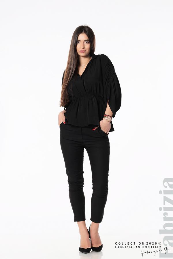 Блуза с ефектни ръкави черен 3 fabrizia