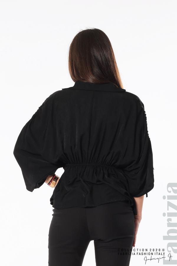 Блуза с ефектни ръкави черен 5 fabrizia