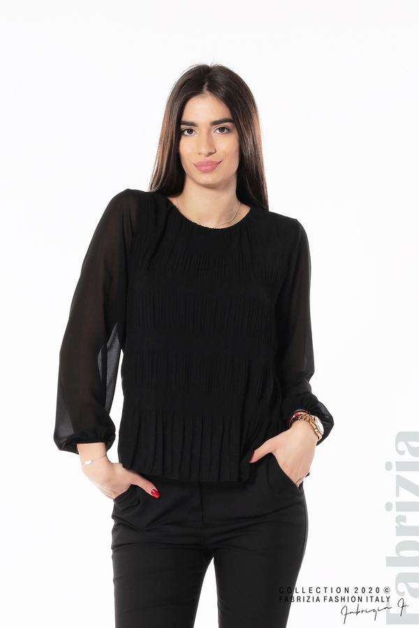Блуза с ефирни ръкави черен 1 fabrizia