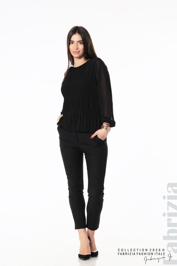 Блуза с ефирни ръкави черен 3 fabrizia
