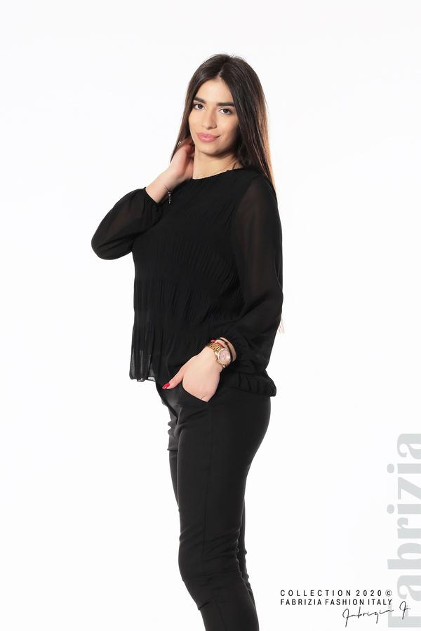 Блуза с ефирни ръкави черен 4 fabrizia