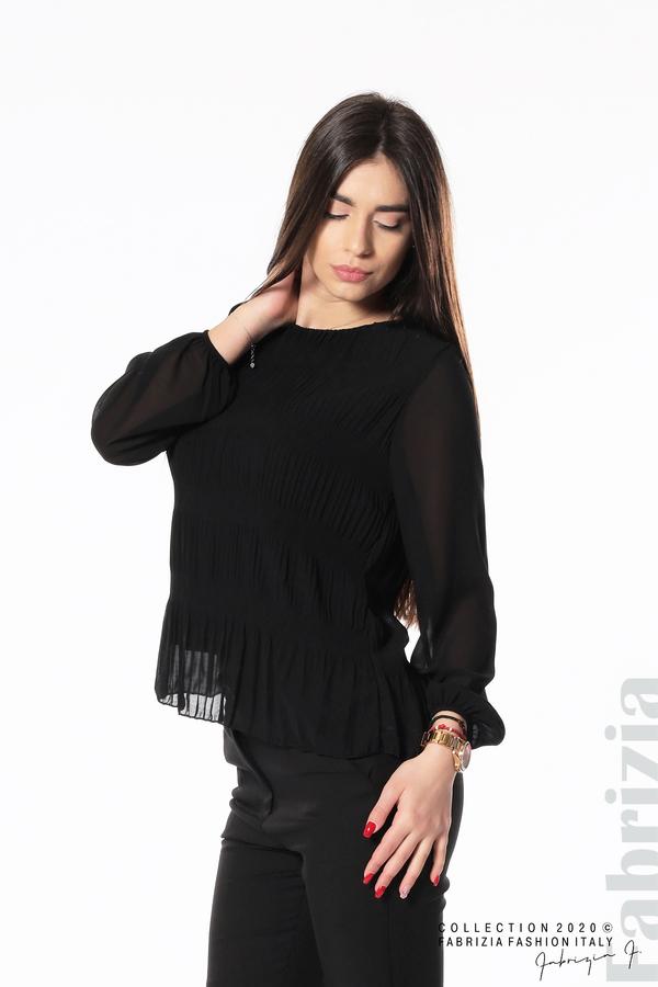 Блуза с ефирни ръкави черен 2 fabrizia