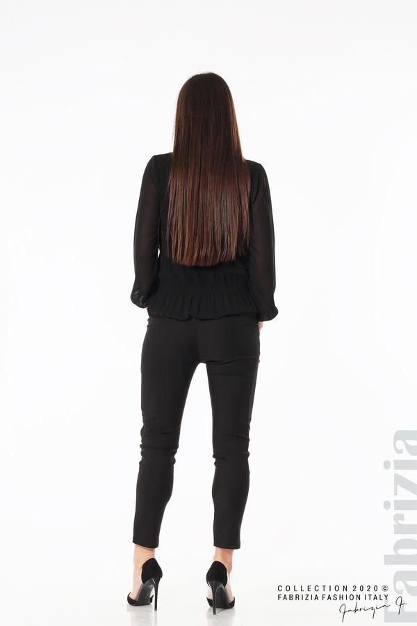 Блуза с ефирни ръкави черен 5 fabrizia