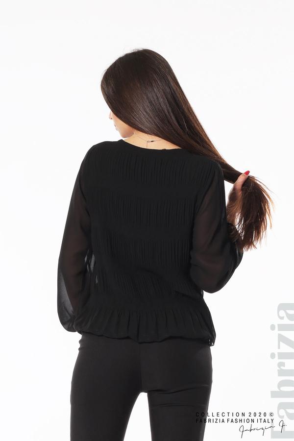 Блуза с ефирни ръкави черен 6 fabrizia