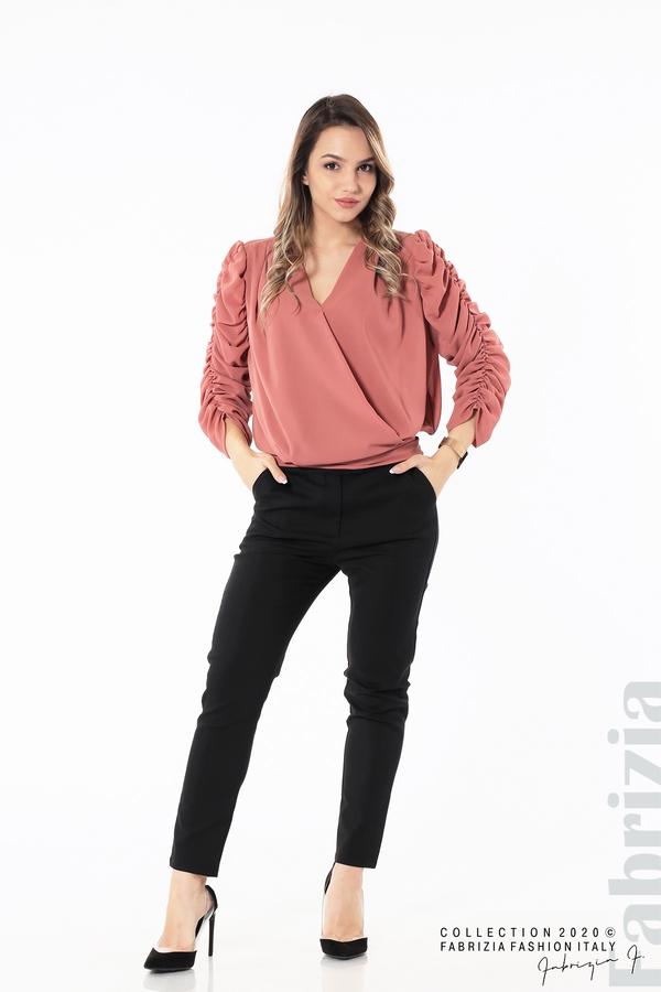 Дамска блуза с набрани ръкави корал 4 fabrizia