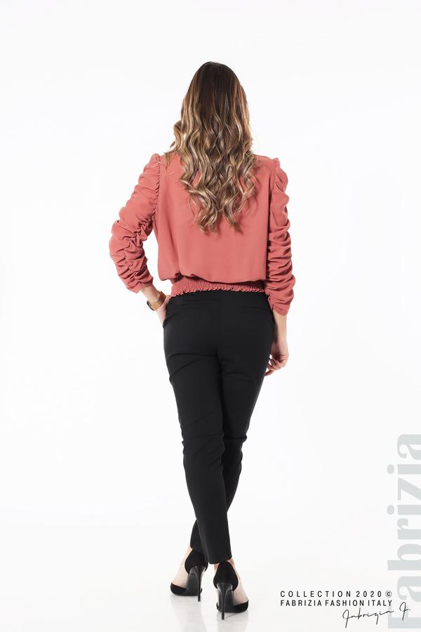 Дамска блуза с набрани ръкави корал 5 fabrizia