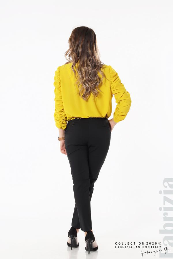 Дамска блуза с набрани ръкави жълт 5 fabrizia