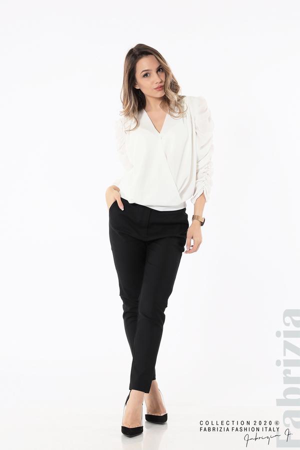 Дамска блуза с набрани ръкави бял 3 fabrizia