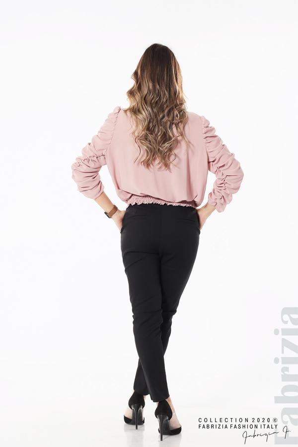 Дамска блуза с набрани ръкави розов 5 fabrizia