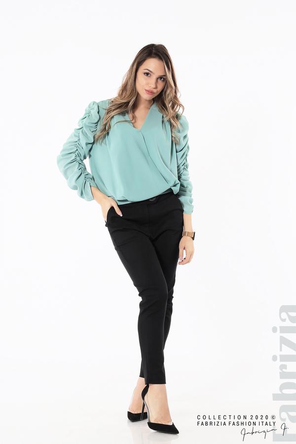 Дамска блуза с набрани ръкави бл.зелен 3 fabrizia