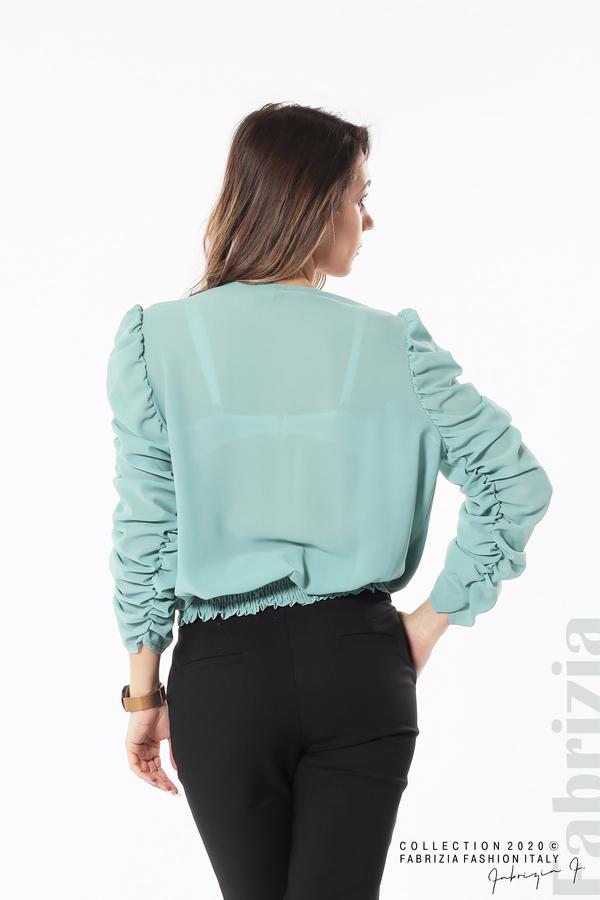 Дамска блуза с набрани ръкави бл.зелен 6 fabrizia