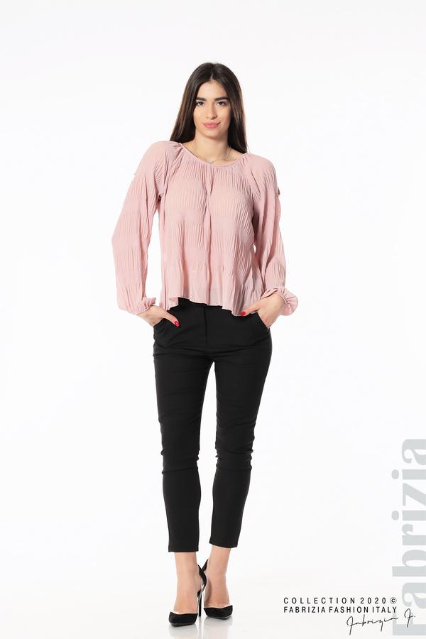 Блуза с прорези на раменете розов 3 fabrizia