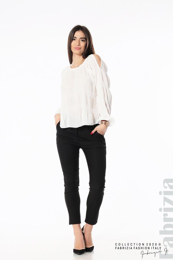 Блуза с прорези на раменете бял 3 fabrizia