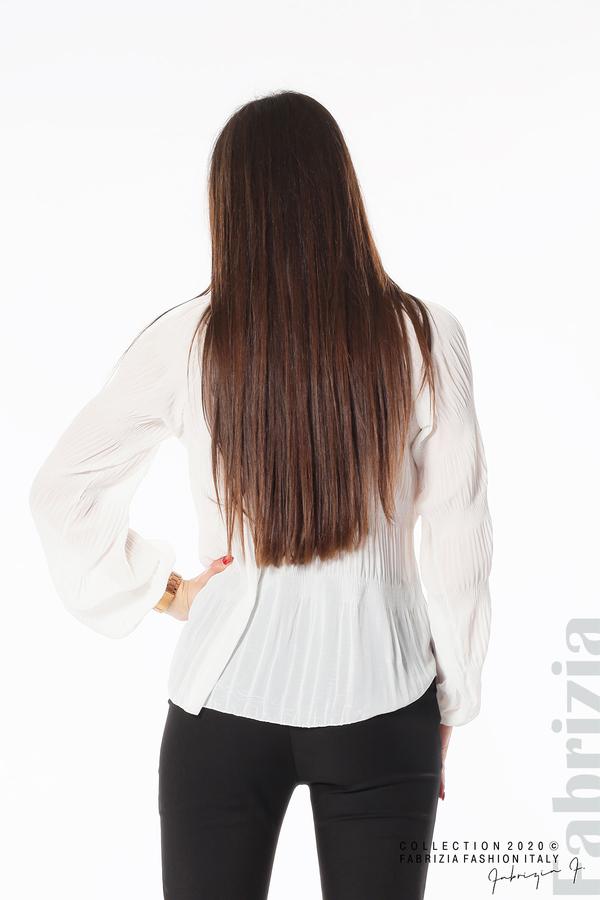 Блуза с прорези на раменете бял 5 fabrizia