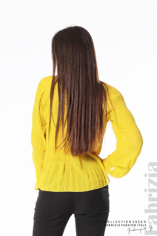 Блуза с прорези на раменете жълт 5 fabrizia