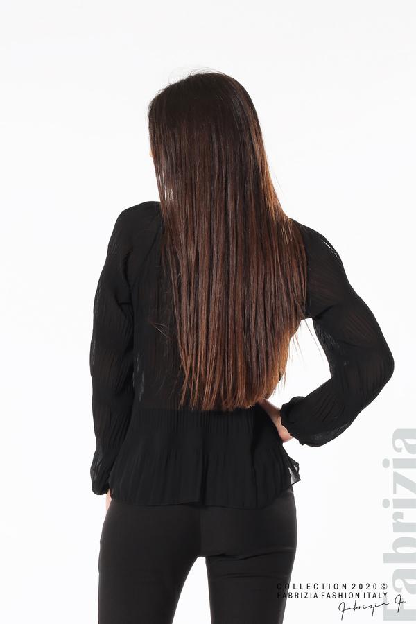 Блуза с прорези на раменете черен 5 fabrizia