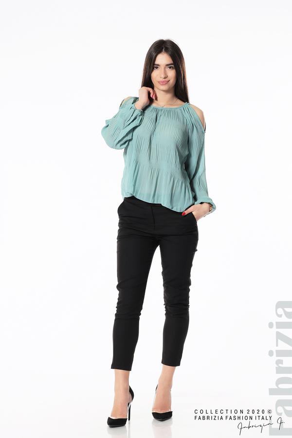 Блуза с прорези на раменете бл.зелен 2 fabrizia