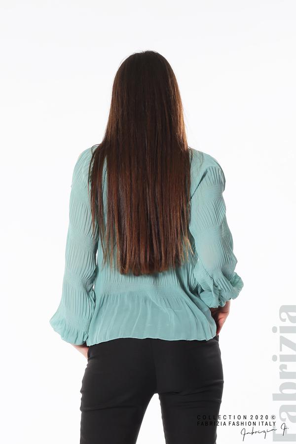 Блуза с прорези на раменете бл.зелен 4 fabrizia