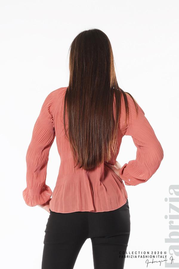 Блуза с прорези на раменете корал 5 fabrizia
