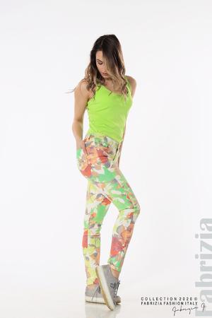 Панталон с щампа големи цветя