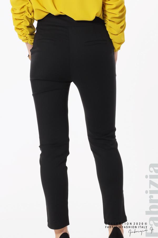 Панталон с италиански джоб черен 6 fabrizia