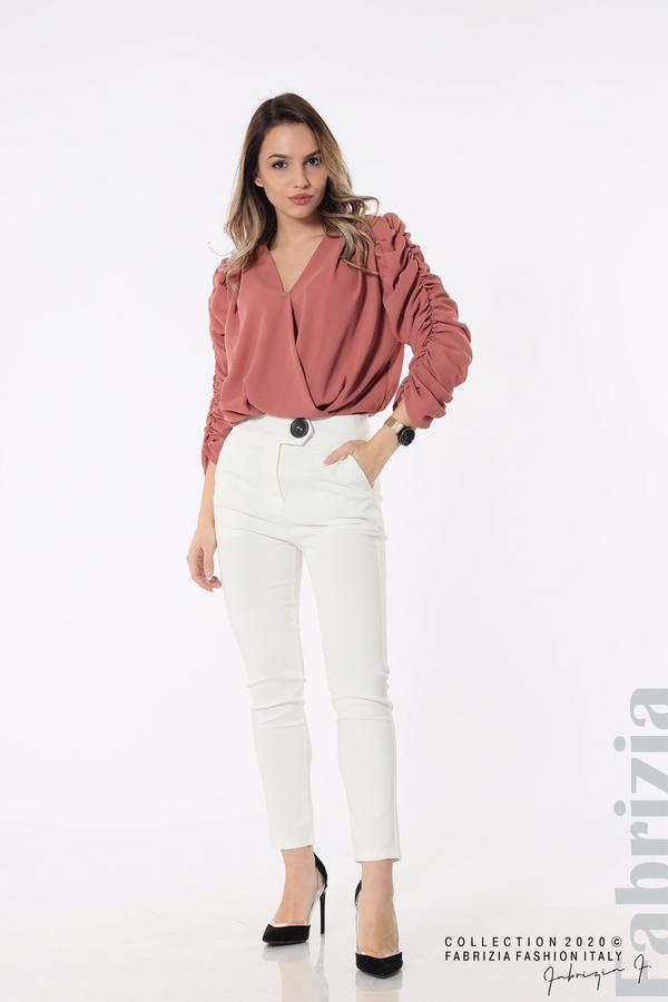 Панталон с италиански джоб  бял 2 fabrizia