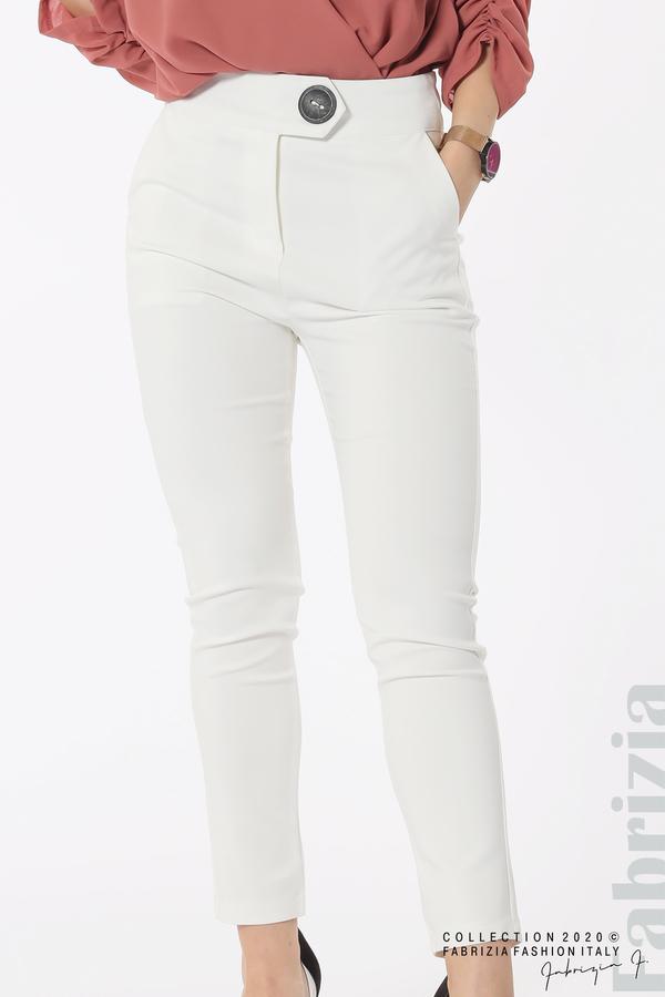 Панталон с италиански джоб бял 3 fabrizia