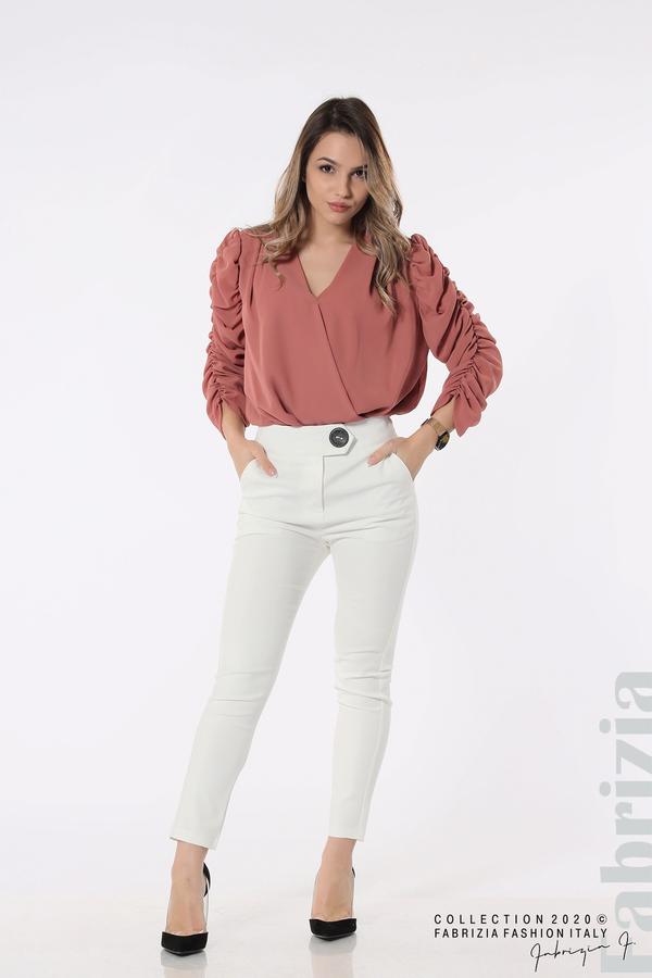 Панталон с италиански джоб  бял 1 fabrizia