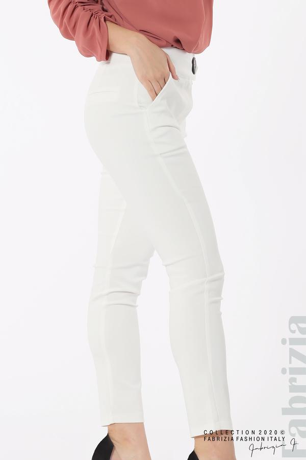 Панталон с италиански джоб бял 4 fabrizia