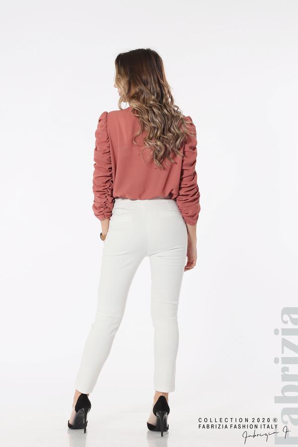 Панталон с италиански джоб  бял 5 fabrizia
