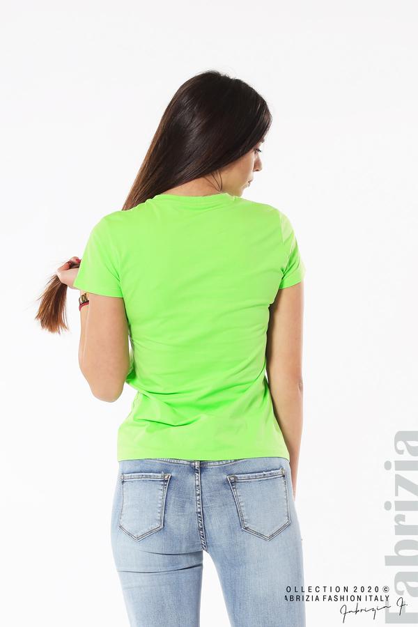 Блуза с разноцветни пайети св.зелен 6 fabrizia