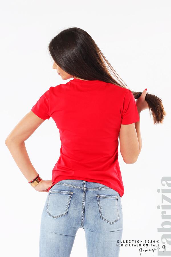 Блуза с разноцветни пайети червен 5 fabrizia