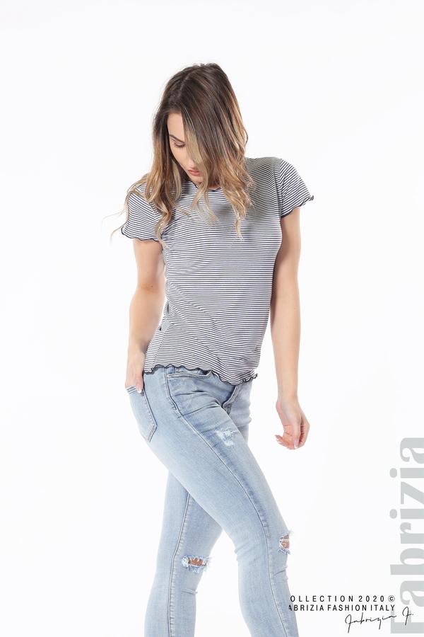 Блуза  с къдрички т.син 3 fabrizia