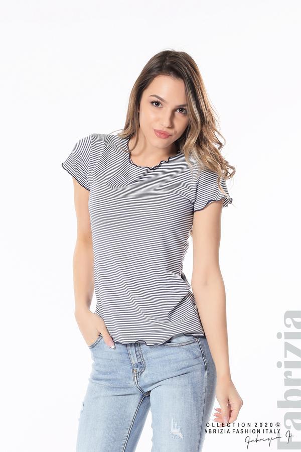 Блуза  с къдрички т.син 1 fabrizia