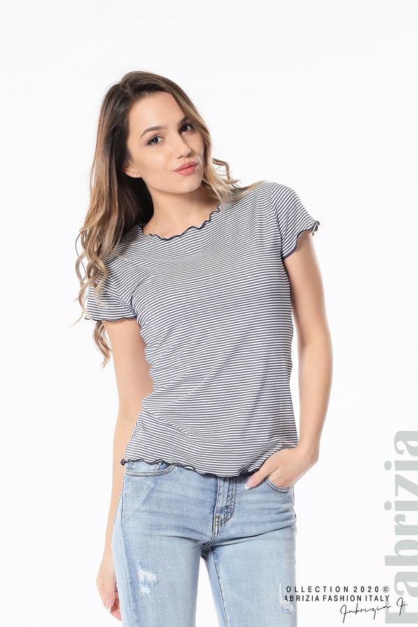 Блуза  с къдрички т.син 2 fabrizia