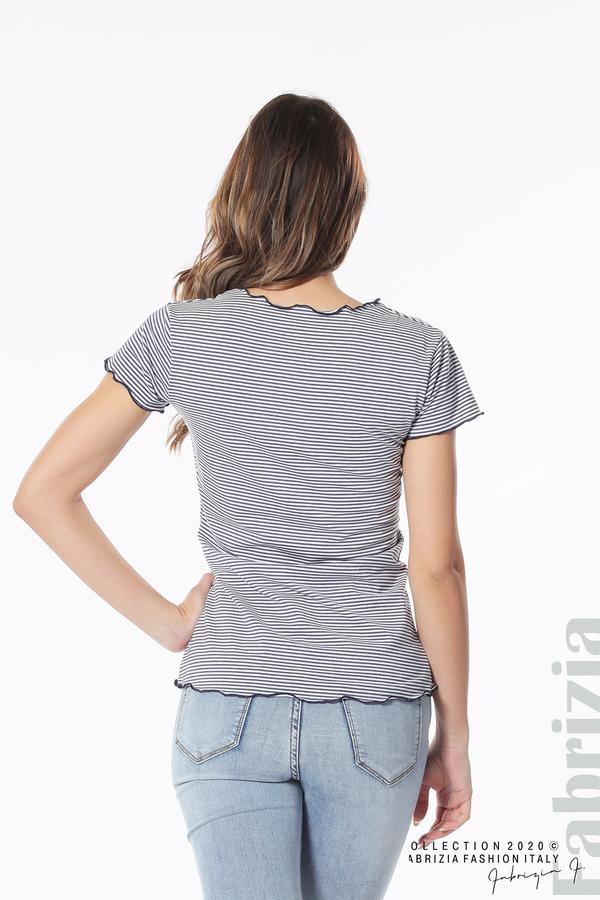 Блуза  с къдрички т.син 5 fabrizia