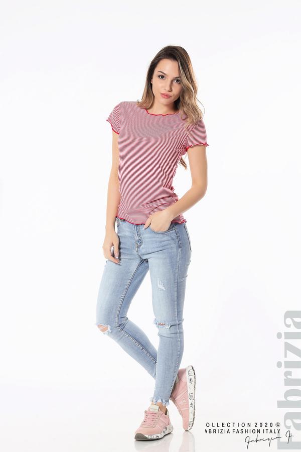 Блуза  с къдрички червен 4 fabrizia