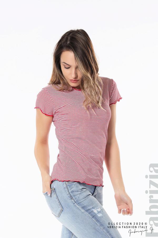 Блуза  с къдрички червен 2 fabrizia