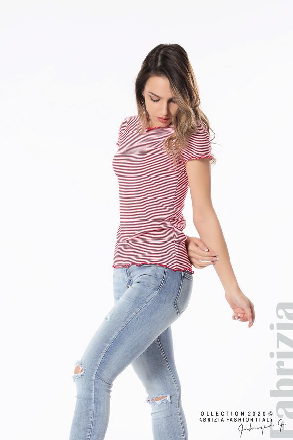 Блуза  с къдрички червен 3 fabrizia