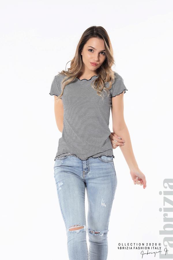 Блуза  с къдрички д.син 4 fabrizia