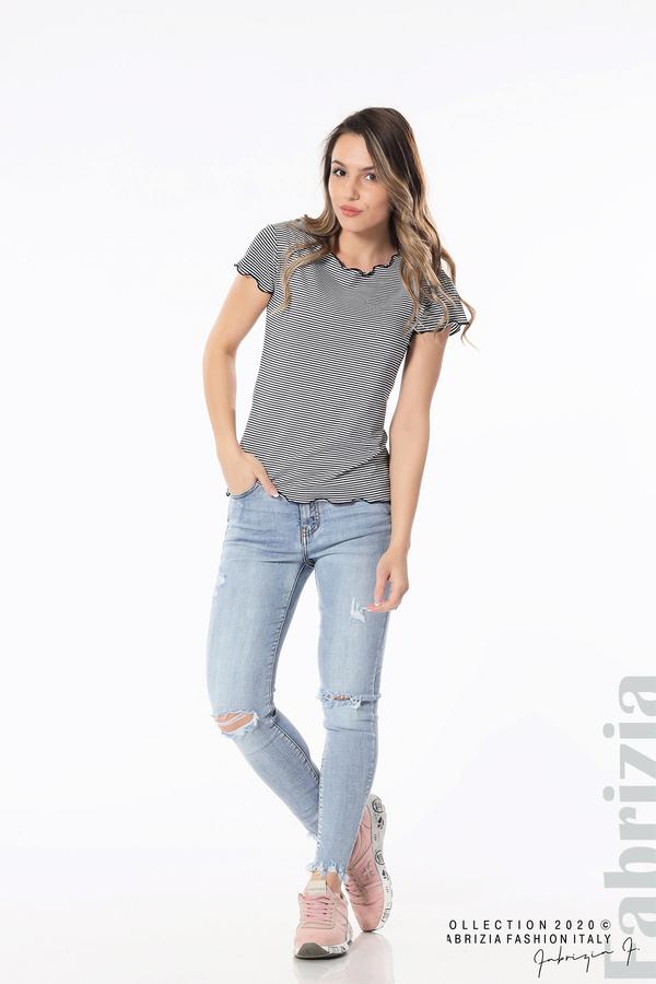 Блуза  с къдрички д.син 3 fabrizia